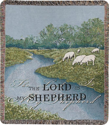 "The Lord is my Shepherd Manual 50x60"" Tapestry Throw"