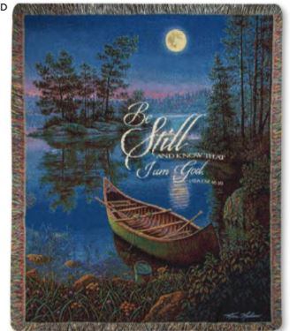 Be Still Tapestry Throw Manual Woodworkers and Weavers