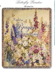 Manual Woodworkers and Weavers Tapestry Throw Butterfly Paridise