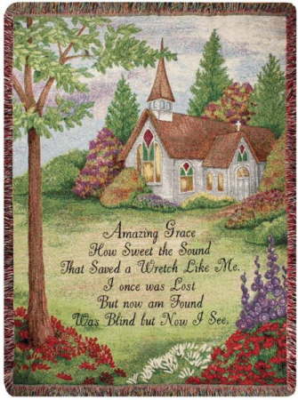 Manual 50x60-inch Tapestry Throw - Amazing Grace