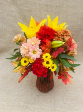 Maple Glory Fresh Vase Arrangement