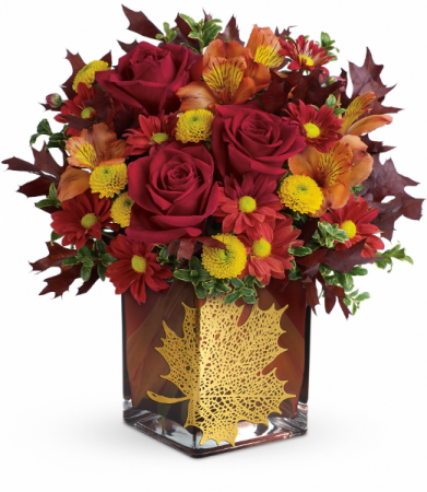 Maple Leaf (Container may vary) All-Around Floral Arrangement