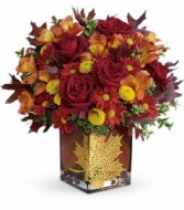 Maple Leaf Cube Arrangement by Enchanted Florist of Cape Coral