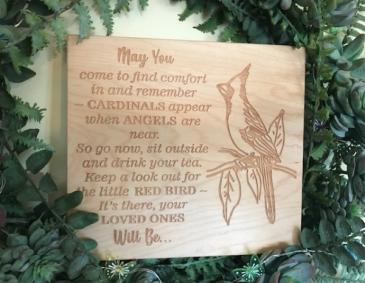 Maple Wood Memorial Plaque Laser Engraved Plaque