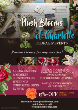 March Madness Promo  in Charlotte, NC | Plush Blooms of Charlotte