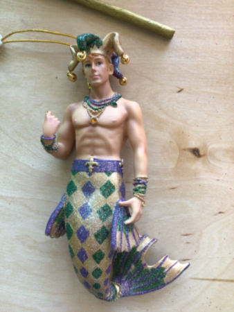 Marci Gras merman Hanging merman