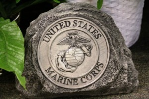 Marine Stone Military Stones in Springfield, IL | FLOWERS BY MARY LOU INC