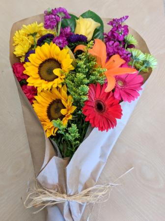 MARKET FRESH BOUQUET Variety of Freshest Seasonal Flowers Wrapped