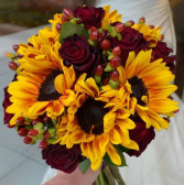 Maroon & Sunflowers