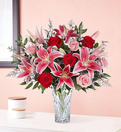 Marquis by Waterford® Blushing Rose & Lily Bouquet all-around