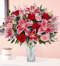 Blushing Rose & Lily Bouquet rose and lily