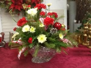 Marquis by Waterford Crystal Sleigh Arrangement Christmas  in Berwick, LA   TOWN & COUNTRY FLORIST & GIFTS, INC.
