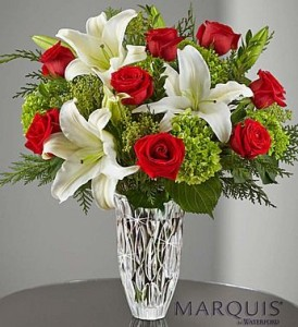 Marquis by Waterford Holiday GFFG Arrangement in Greers Ferry, AR | GREERS FERRY FLORIST & GIFTS