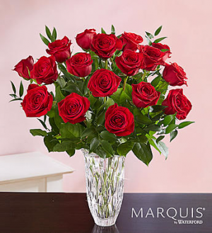 Marquis by Waterford® Premium Long Stem Red Roses  in Valley City, OH | HILL HAVEN FLORIST & GREENHOUSE