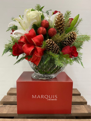 MARQUIS BY WATERFORD SLEIGH  WITH CHRISTMAS FLOWER CHRISTMAS SLEIGH in Sugar Land, TX | OCCASIONS BY CINDY