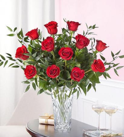 Marquis One Dozen Roses Marquis Vase