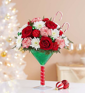 Martini Bouquet™ Peppermint  in Valley City, OH | HILL HAVEN FLORIST & GREENHOUSE