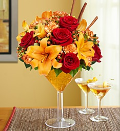 Martini Bouquet Pumpkin Spice 1800 flowers Martini Bouquet
