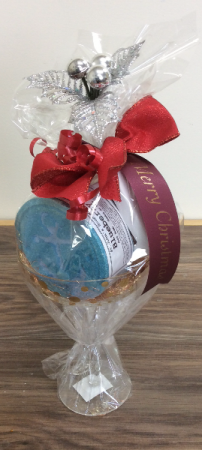 Martini glass bath bomb gift set Christmas gift set