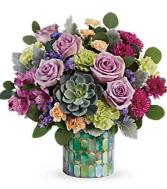 Marvelous Mosaic Bouquet stained glass
