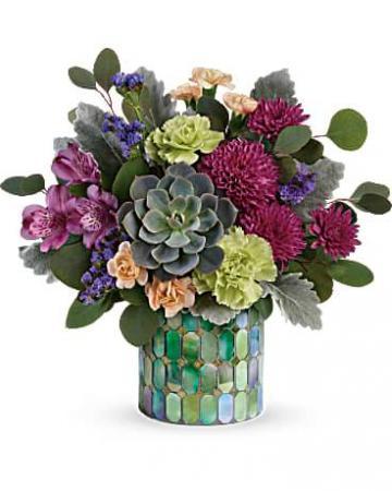 Marvelous Mosaic Bouquet Vase Arrangement