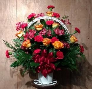 Sympathy Tribute Basket Arrangement