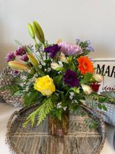 Large Mason Jar Floral