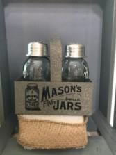 Mason Jar, Salt & Pepper Set Gift