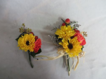 Matching Pin on Corsage and Boutonniere Corsage and Bout