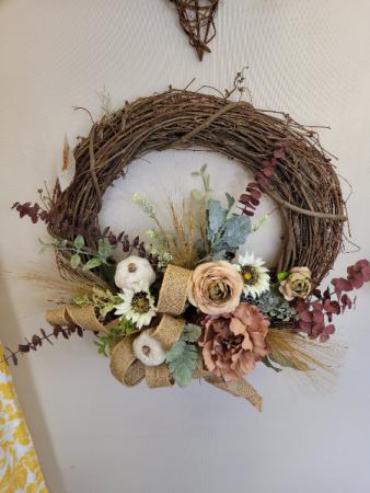 Mauve for Fall Wreath - silk
