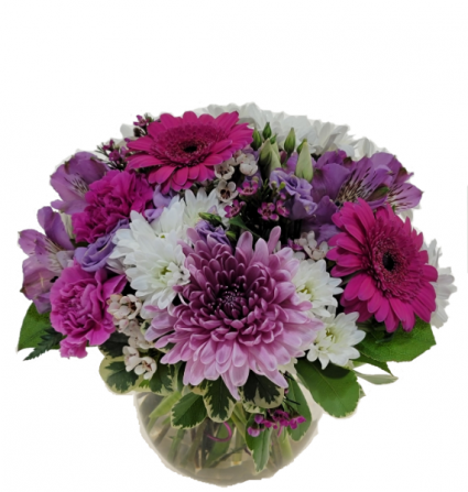 Mauve Madness vase arrangement