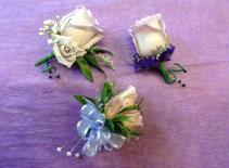 Mauve Over Boutiniere Prom Boutonniere