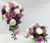 Mauve White & Purple Bridal Bouquet