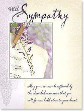 May Your Sorrows Be Softened Sympathy Card