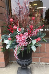 Mayfield Exclusive Outdoor Holiday Planter Drop in Drop in plastic container