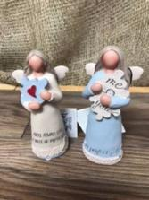 Me & you a perfect fit Ceramic angel figurine