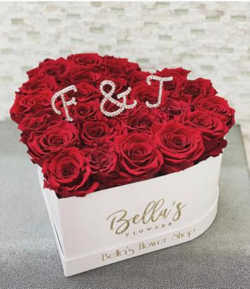 You & Me, Heart Box Fresh-Cut Roses