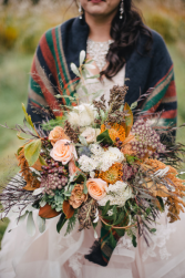Meadow wedding Bride bouquet