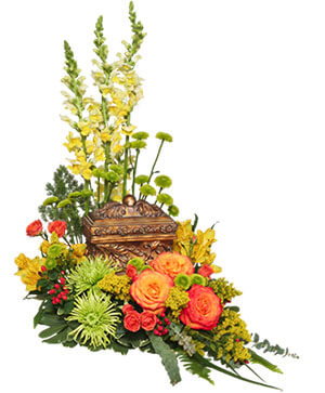 Meaningful Memorial Cremation Arrangement  (urn not included)  in Croton On Hudson, NY | Cooke's Little Shoppe Of Flowers