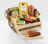 Meat & Cheese Wooden Gift Crate .WGG708-N