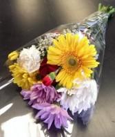 Medium Mixed Bouquet Wrapped Bouquet