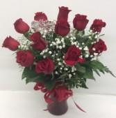 Medium Stem Red Rose Arrangement