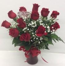 Medium Red Rose Arrangement