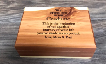 Medium wooden keepsake box Personalize with own quote