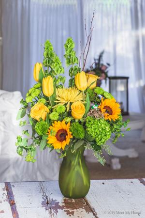 Mello Yellow Mixed vase