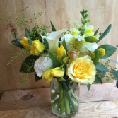 Mellow in Yellow Vase arrangement