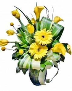 Mellow Yellow Flower Arrangement