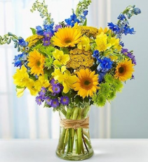 Mellow Yellow Surprise Vase Arrangement