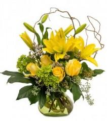 Mellow Yellow Vase Arrangement