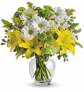 Mellow Yellow Vase Arrangment